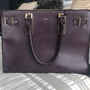 Aldo burgundy leather tote